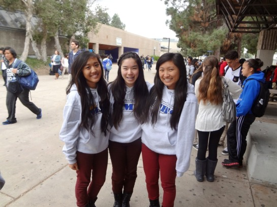 Matching CAHSEE sweaters lol